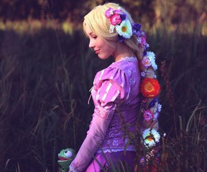 cosplay, disney, and flowers image