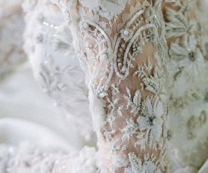 white, bride, and dress image