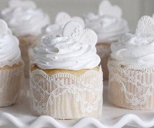 cupcake, sweet, and white image