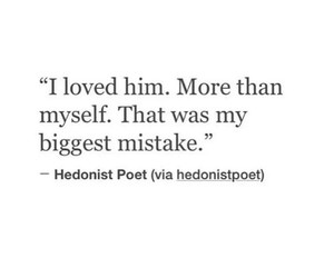love, mistake, and quote image