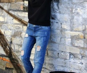 jeans, style, and black image