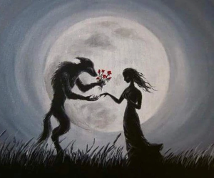 love, wolf, and art image