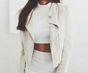 great, skirt, and white jacket image