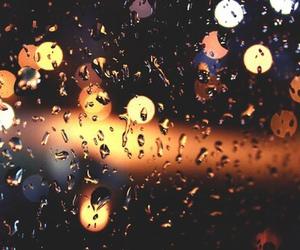 rain, light, and window image