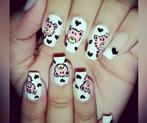 bears, hands, and nail art image