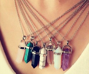 crystals, accessories, and grunge image