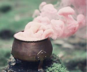 pink, magic, and smoke image