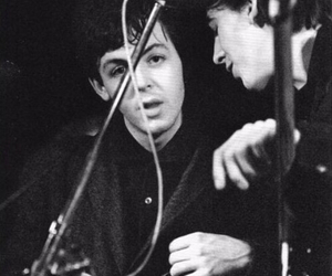 beatles, george harrison, and Paul McCartney image