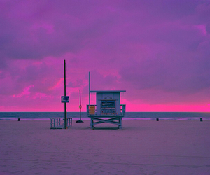 beach, relax, and violet image