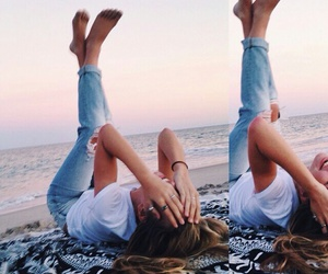 beach, fashion, and photography image