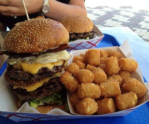 food and burger image