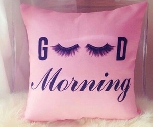 pink, morning, and pillow image