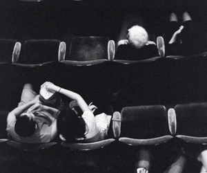 cinema, black and white, and couple image