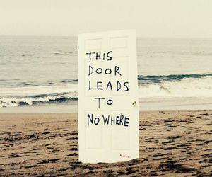 door, beach, and nowhere image