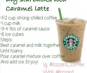 starbucks, caramel, and latte image