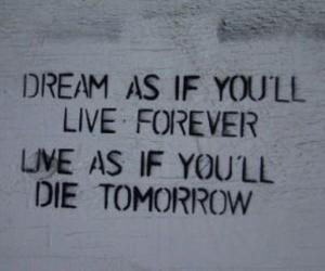 Dream, live, and forever image