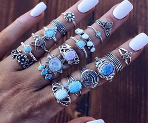 rings, nails, and accessories image