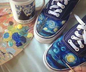 art, shoes, and paint image