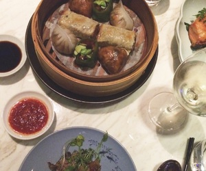 chinese food, dim sum, and dinner image