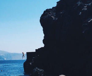 beautiful, blue, and jumping image