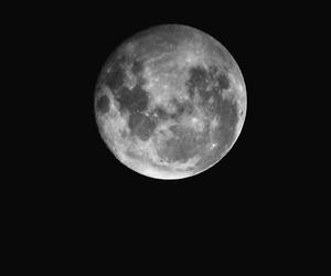 black and white and moon image