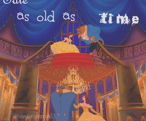 beauty and the beast, belle, and tale as old as time image