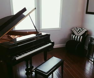 decor, minimal, and piano image
