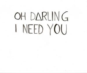 love, darling, and need image