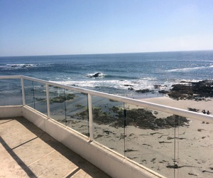 beach, california, and nature image