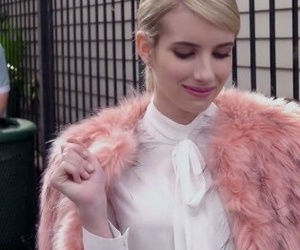 emma roberts, pink, and scream queens image