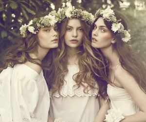 beauty, garden, and models image