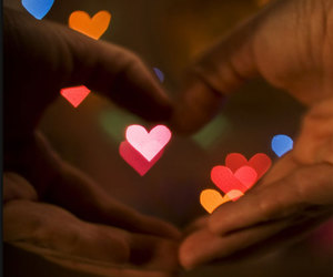 light, love, and hands image