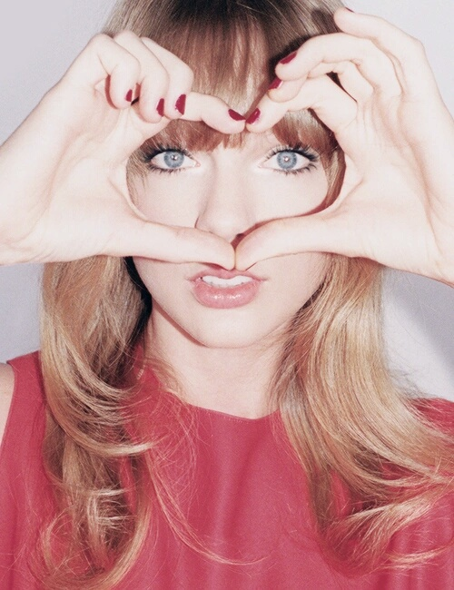 Taylor Swift, red, and heart image