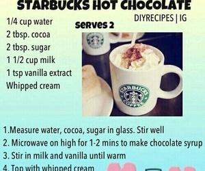 diy, chocolate, and starbucks image