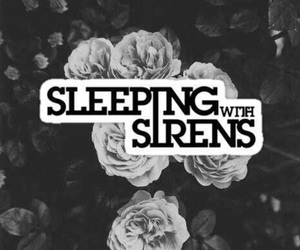bands, sleeping with sirens, and black and white image