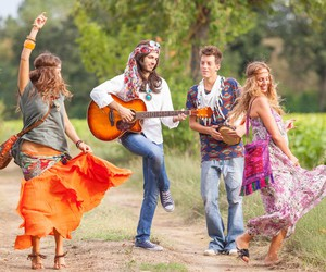 hippie, love, and happy image