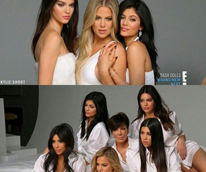 kardashians, kendall jenner, and kylie jenner image