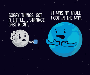 earth, funny, and moon image