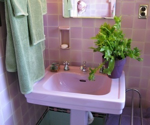 pink, pale, and plants image