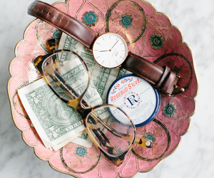 bowl, money, and glasses image