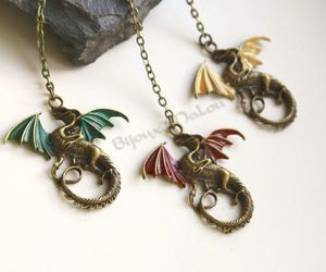 necklace, game of thrones, and rhaegal image