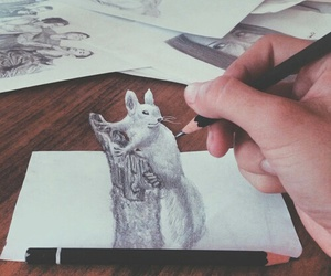 squirrel, 3d, and art image