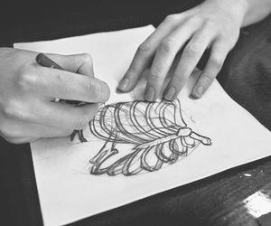 drawing, art, and skeleton image