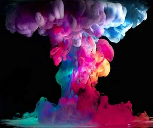 smoke, colors, and colorful image