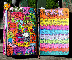 bright, color, and doodles image