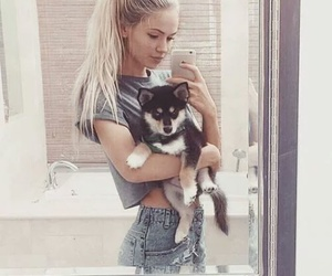 dog, puppy, and scarlett leithold image