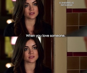pretty little liars, aria, and lucy hale image