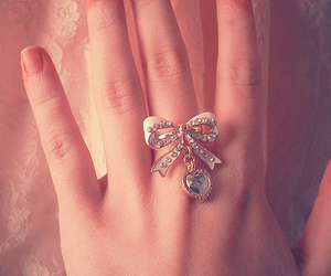 bow, ring, and cute image