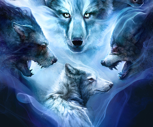 wolf, animals, and art image