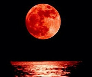 moon and red image